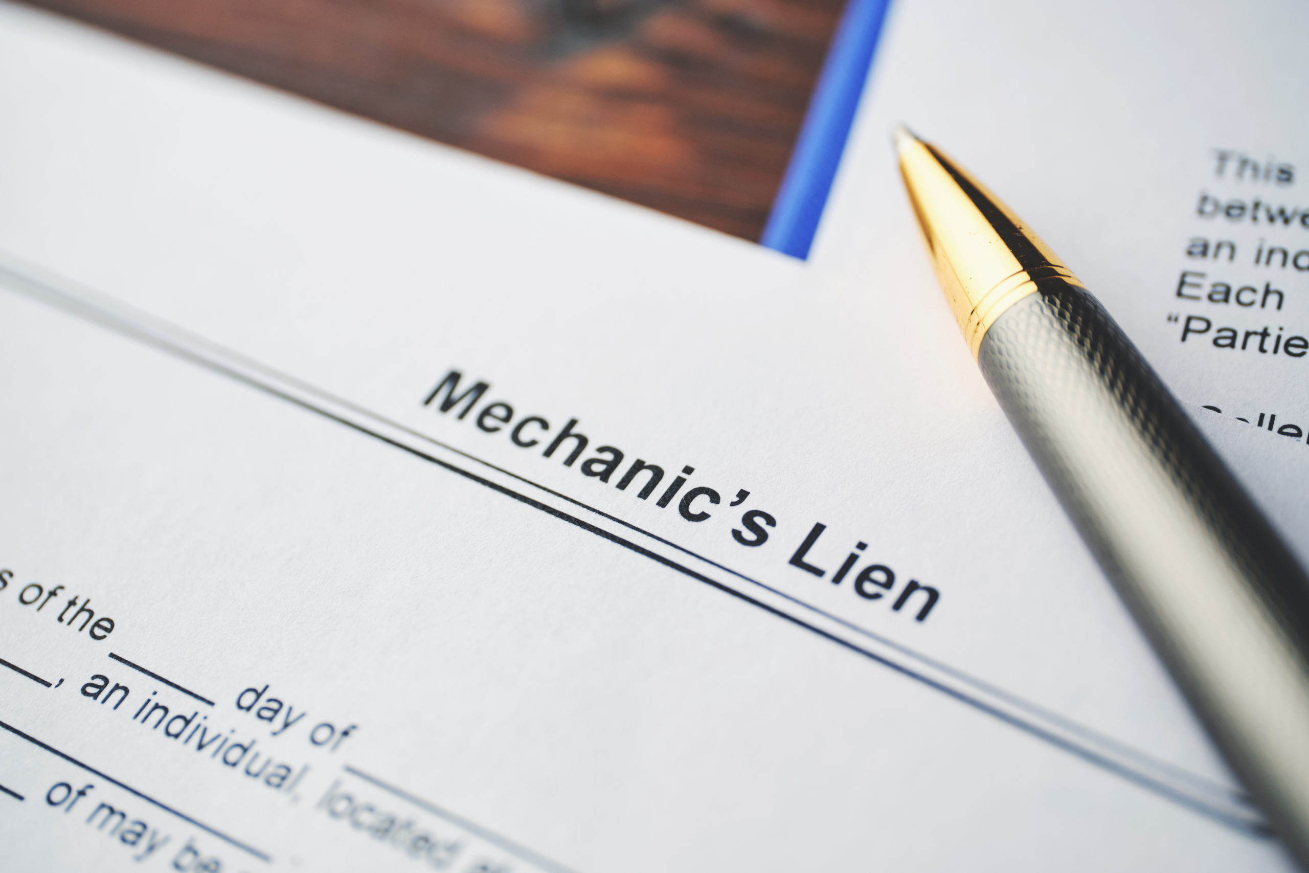 Liens 101: a Primer on the Various Types of Liens